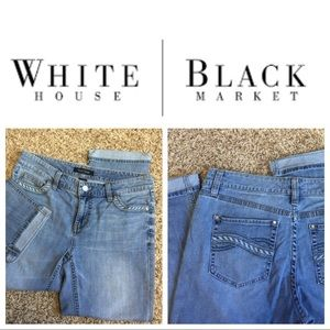 WHBM soft lighter wash Jeans Crop Jeans 10